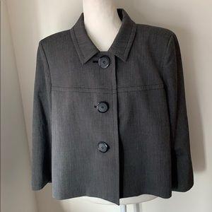 Style & Co Grey 3 button, 3/4 sleeve blazer
